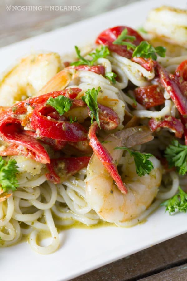 Shrimp and Pesto with Red Peppers 3 (Custom)