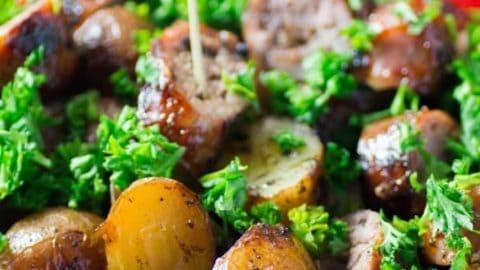 Simple BBQ Potato Sausage Appetizer