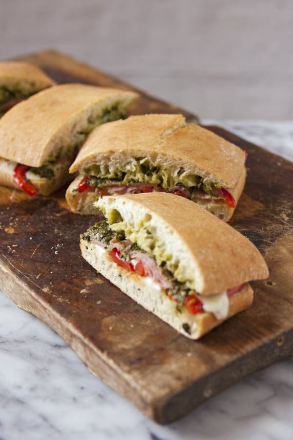 Baked-Ham-and-Chimichurri-Panini