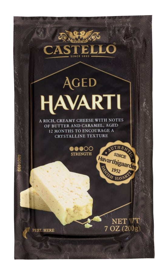 Castello Aged Havarti 7oz Pack Shot (Custom)