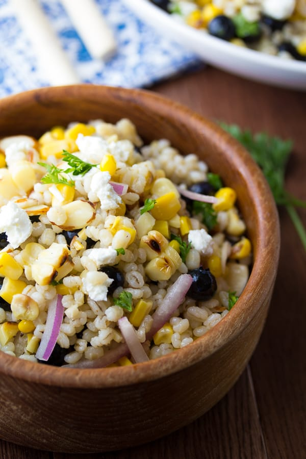 Grilled-Corn-and-Barley-Salad-with-Blueberries-and-Goat-Cheese-2
