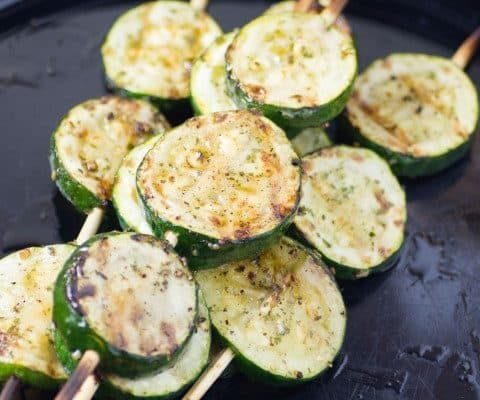Grilled Zucchini Pops