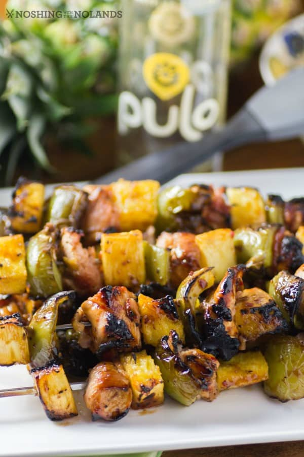 Bacon Wrapped Chicken and Pineapple Skewers