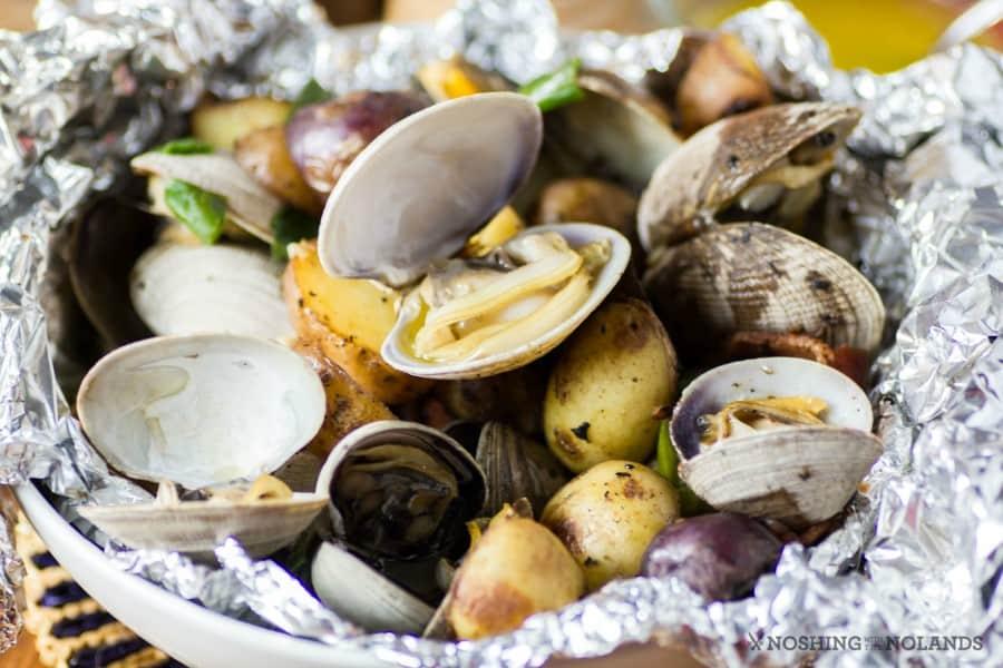 Clam Bacon Little Potato Foil Packs