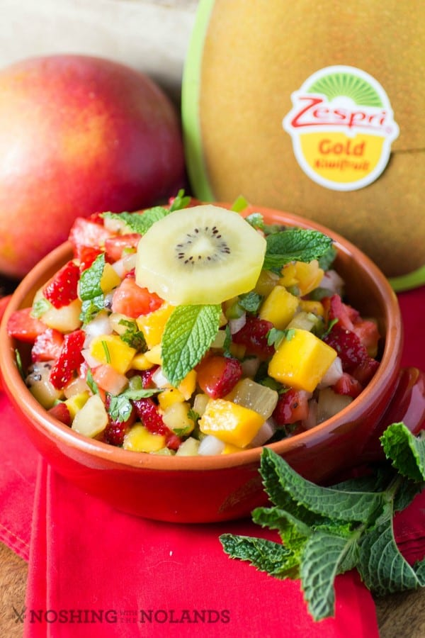 Fresh Kiwi Mango Strawberry Salsa