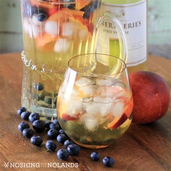 Peach Blueberry White Wine Sangria by Noshing With The  Nolands (Custom)