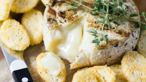 Simple Summer Appetizer BBQ Brie