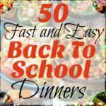 50 Fast and Easy Back To School Dinners Collage Square (Small) (Custom)