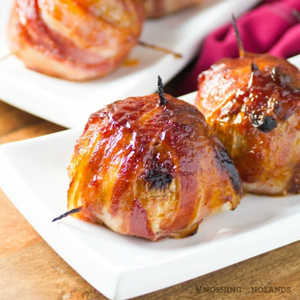 bbq bacon wrapped onion bombs are delectable right out of the oven