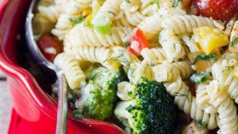 Best Three Cheese Ranch Pasta Salad Recipe