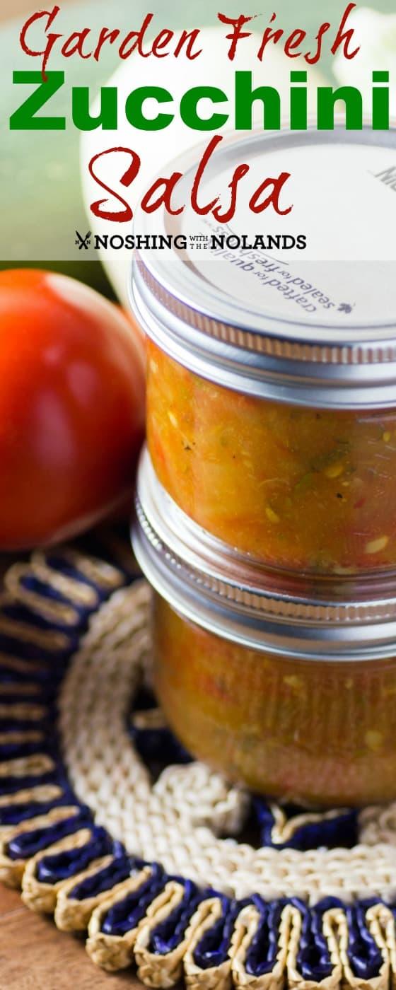 Garden Fresh Zucchini Salsa Single Pin