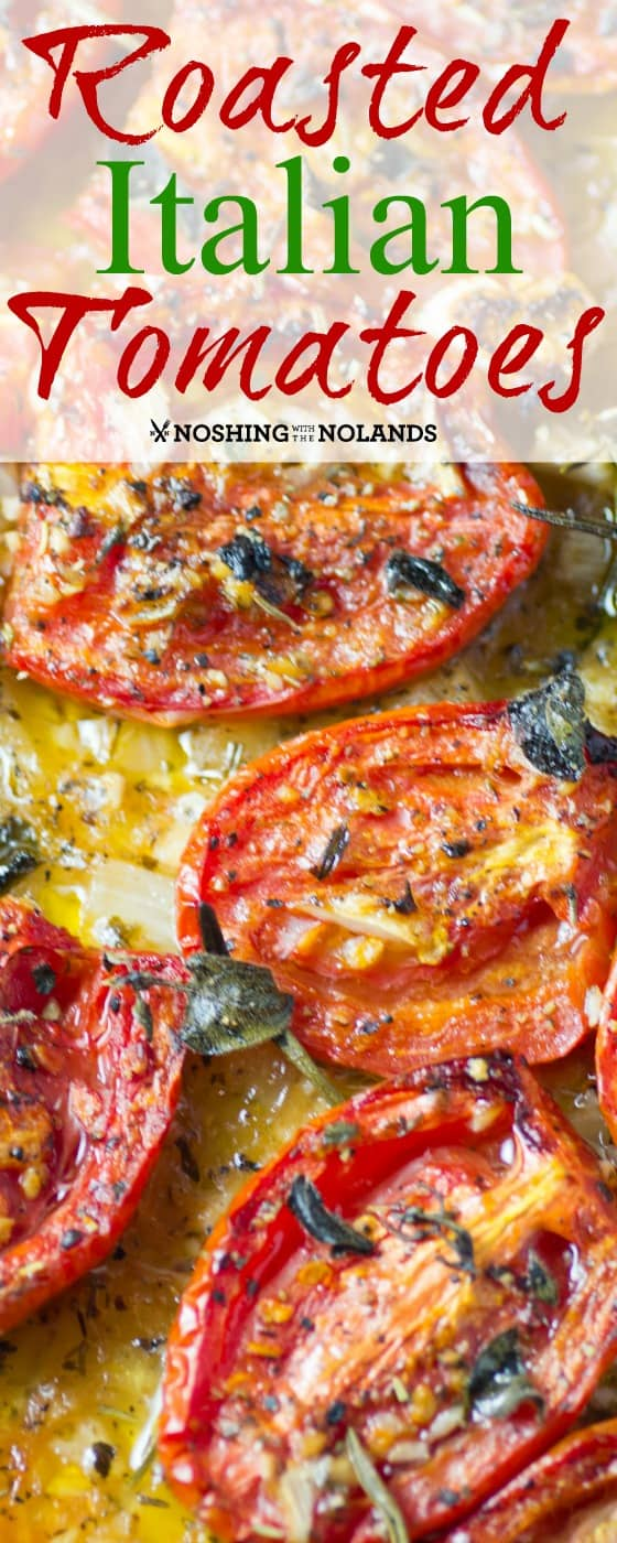 Roasted Italian Tomatoes are divine if you have never tried them. They take on a whole new flavor and make a great tomato sauce too!! #tomatoes #roma #roasted
