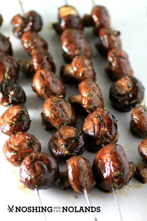 Skewered Garlic Mushrooms by Noshing With The Nolands (Custom)