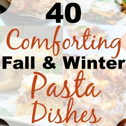 40 Comforting Fall & Winter Pasta Dishes Collage square (Custom) (2)