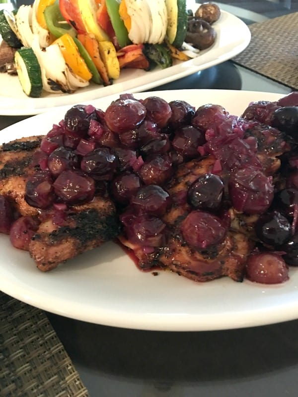 Adobo Rubbed Grilled Chicken with Chipolte-Grape Glaze (4) (Custom)