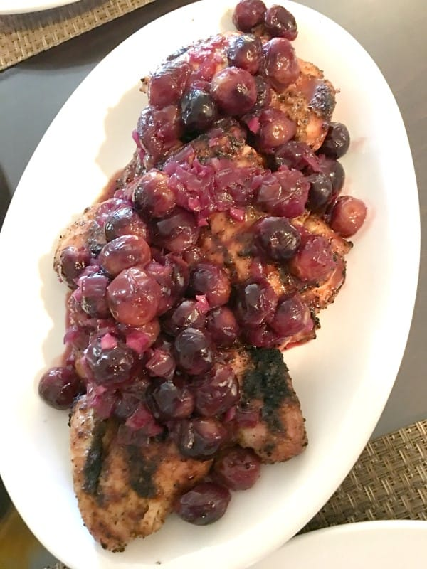 Adobo Rubbed Grilled Chicken with Chipolte-Grape Glaze (Custom)
