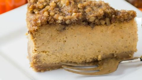 Streusel Topped Pumpkin Cheesecake