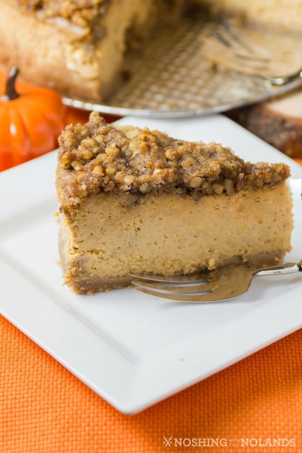 Streusel Topped Pumpkin Cheesecake