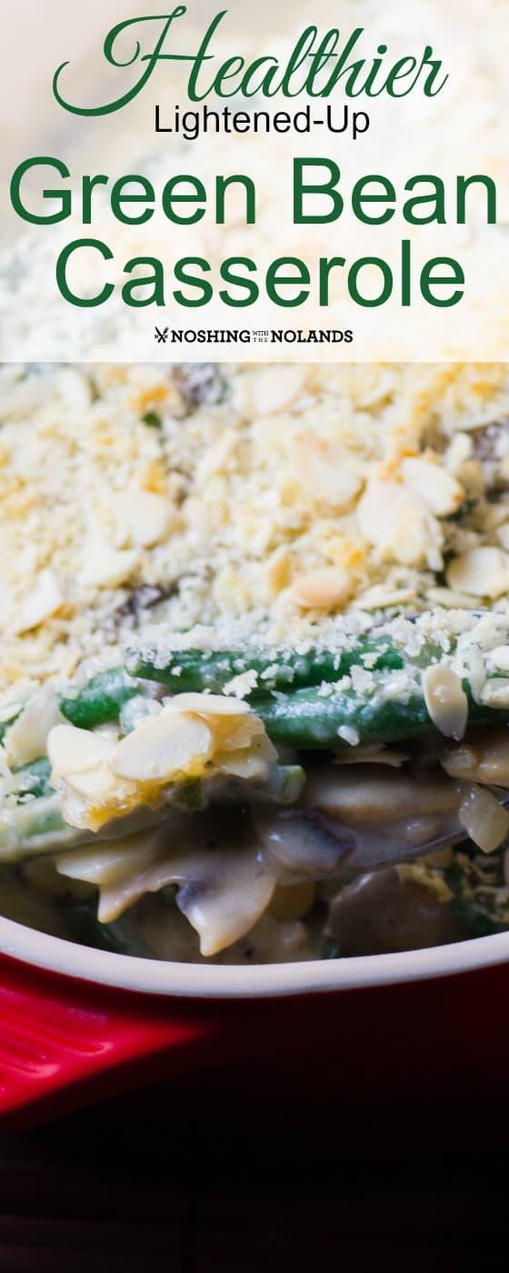 Healthier Lightened Up Green Bean Casserole