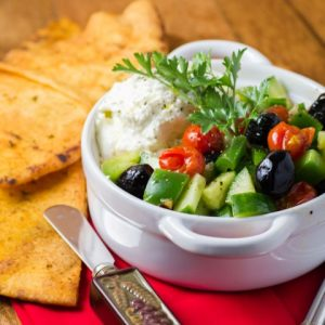 Whipped Feta Blistered Tomatoes Greek Salad Spread