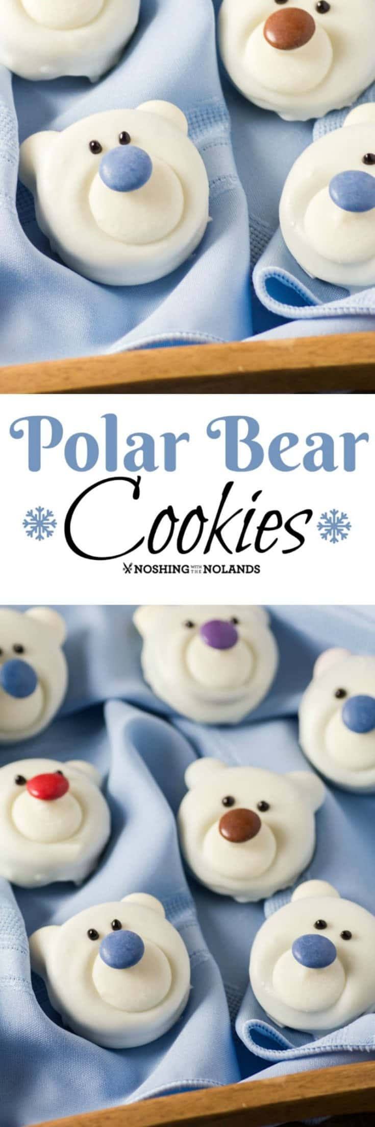 Polar Bear Cookies are fun to make and a great edible craft for the family! #polarbears #ediblecraft #cookies