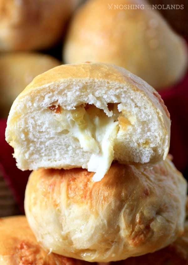MWM Smoked Cheddar Dinner Rolls with Caramelized Onions