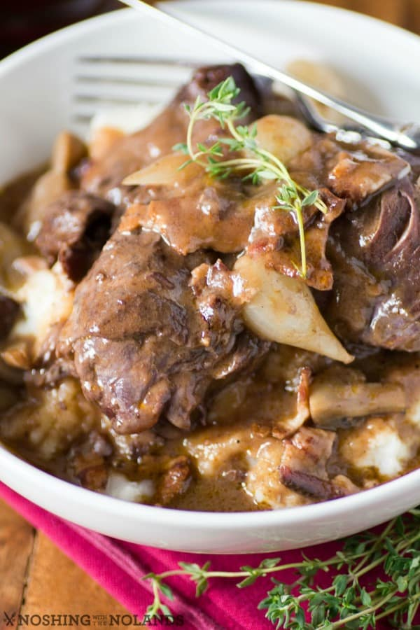 Coq au Vin {Chicken in Red Wine}