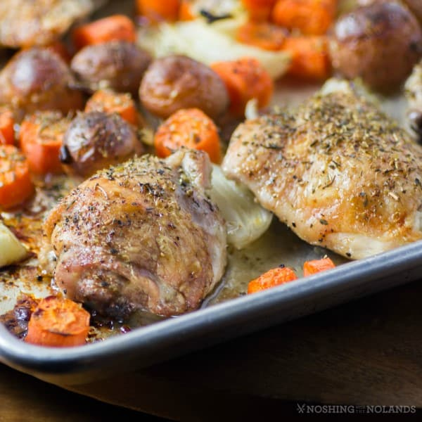 Roasted Sheet Pan Chicken Thighs