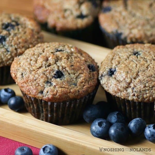 Blueberry Banana Bran Muffins