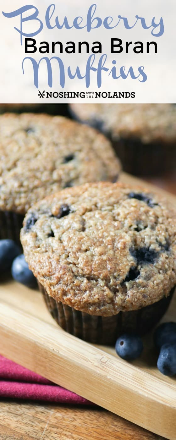 Blueberry Banana Bran Muffins