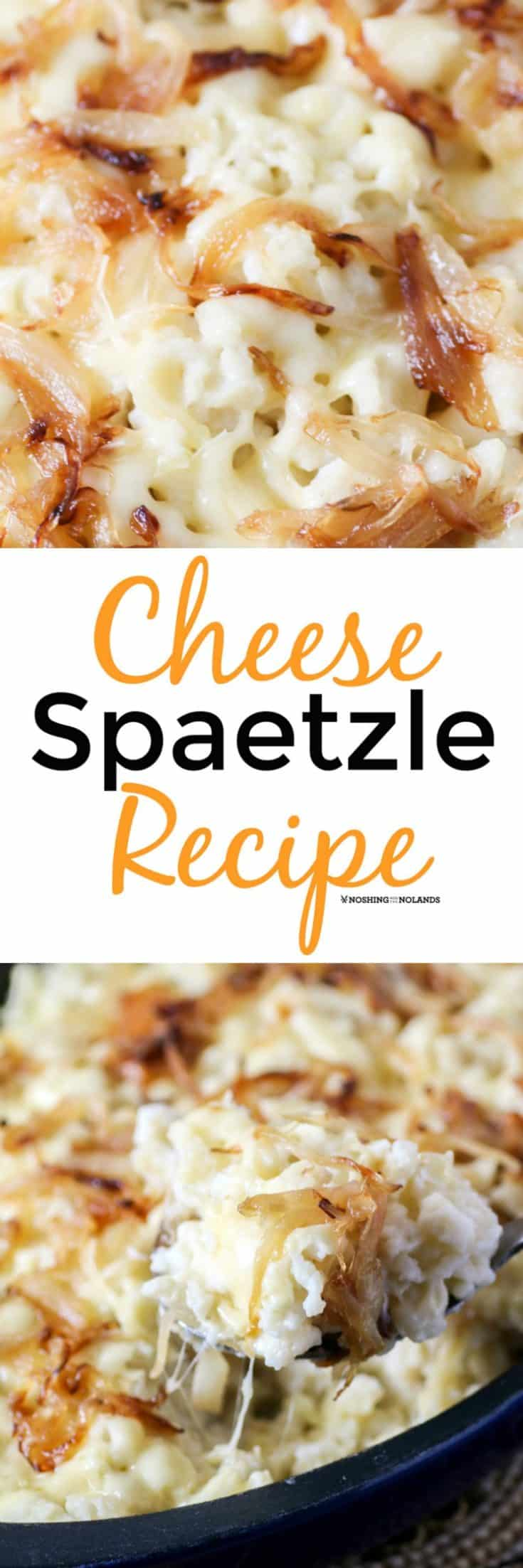 Cheese Spaetzle Recipe is an amazing German side dish or an entree on its own!! #spaetzle #cheesenoodles #German