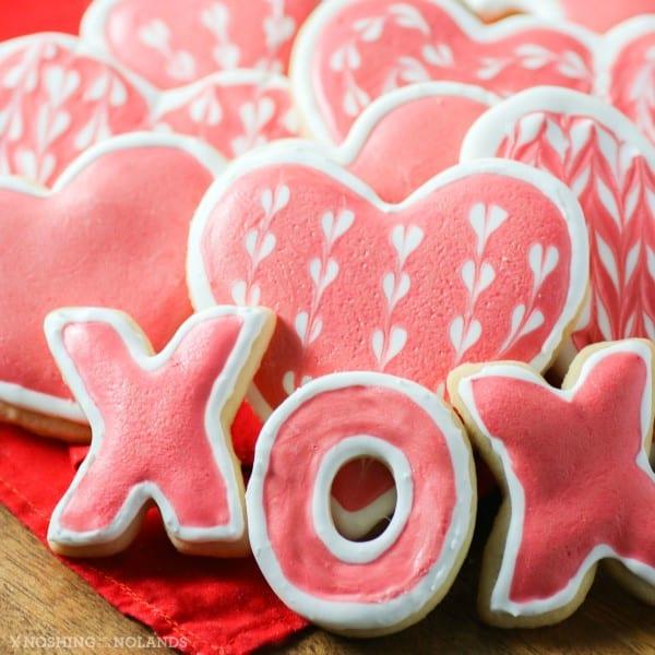 Valentine\'s Day Sugar Cookies