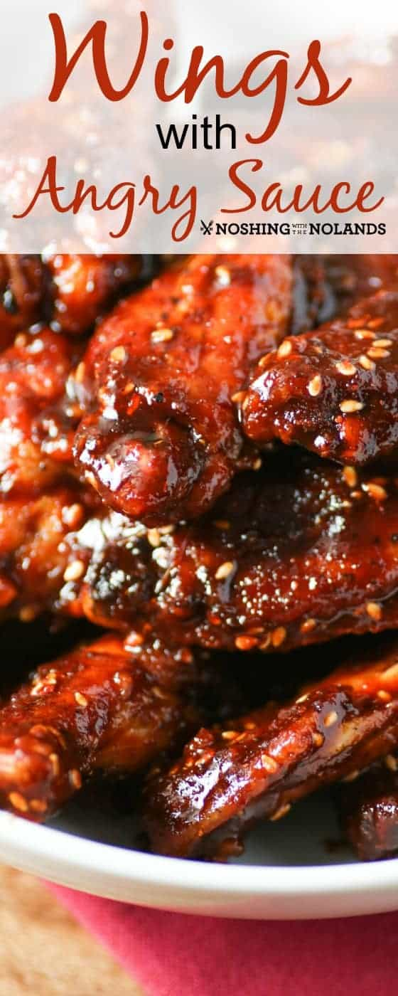 You are going to love these Wings with Angry Sauce!! Oooooh, the fire!! #chickenwings #hotsauce #angrysauce #gamedaysnack #appetizers