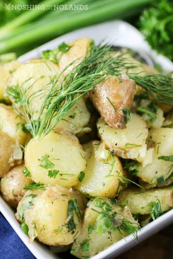 Herbed Potato Salad {No Mayo}