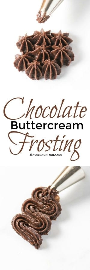 Chocolate Buttercream Frosting is smooth and creamy, the perfect frosting for so many of your baked goods. #frosting #buttercream #chocolate