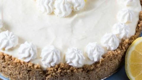 Ginger Cookie Crusted No-Bake Lemon Cheesecake