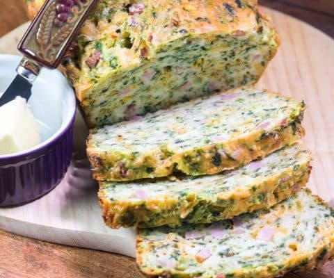Ham Cheese Spinach Loaf