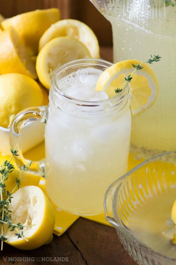 Spring Thyme Lemonade by Noshing With The Nolands