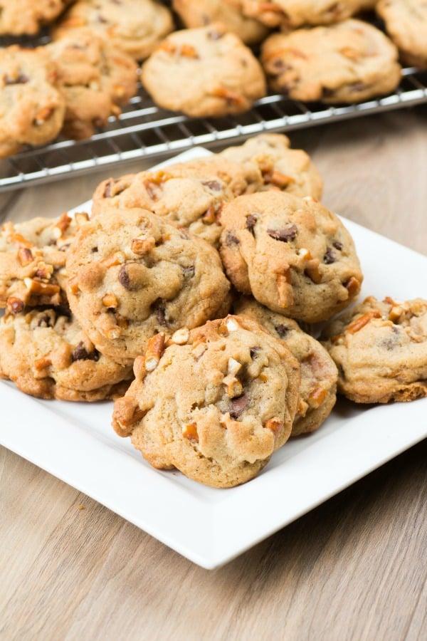 Chocolate Chip Pretzel Caramel Cookies