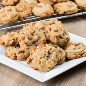 Chocolate Chip Pretzel Caramel Cookies
