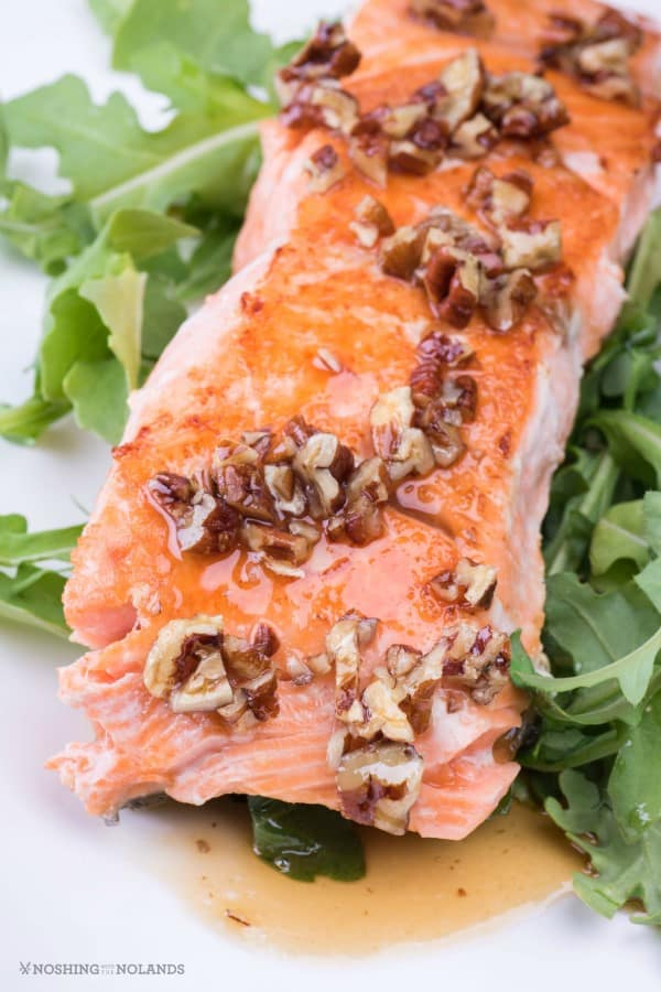 Maple Bourbon Pecan Salmon