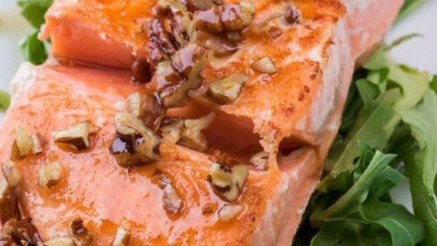 Maple Bourbon Pecan Salmon