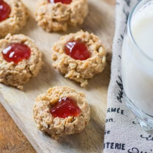No-Bake Peanut Butter Jam Thumbprints