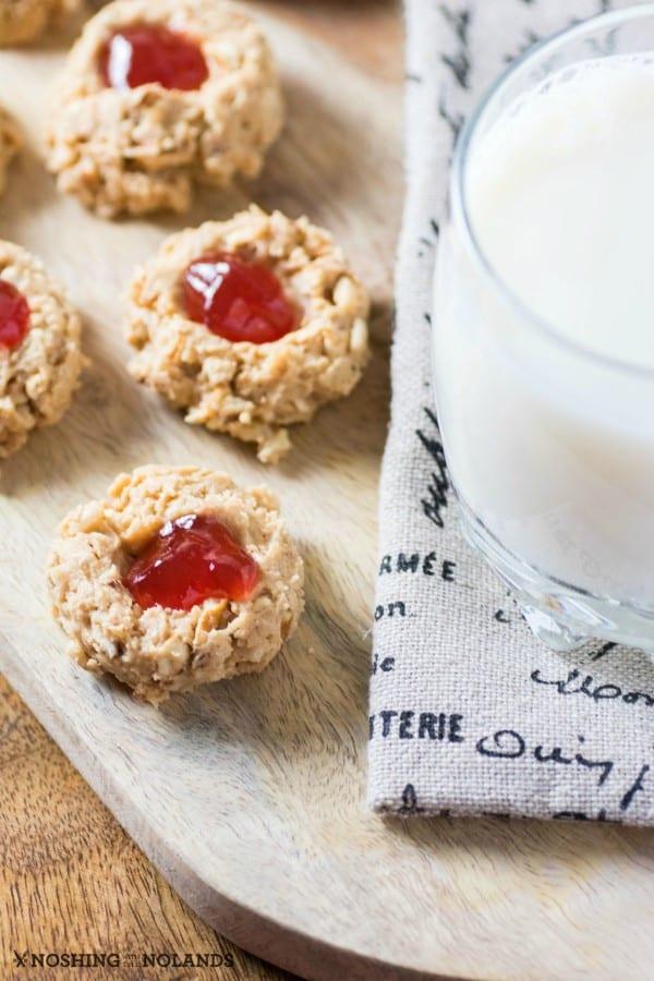 No-Bake Peanut Butter Jam Thumbprints