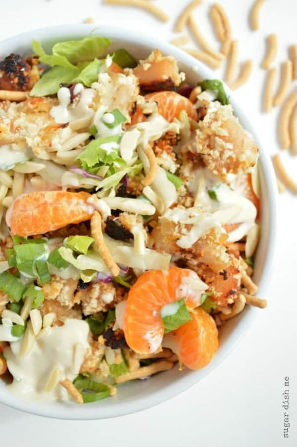 Asian Chicken Crunch Salad by Sugar Dish Me