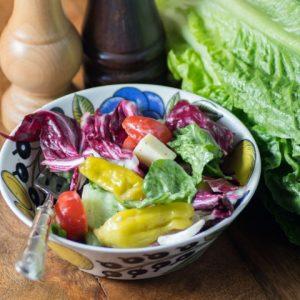 Italian Salad with Creamy Italian Dressing