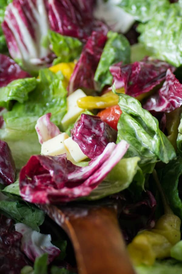 Italian Salad with Creamy Italian Dressing