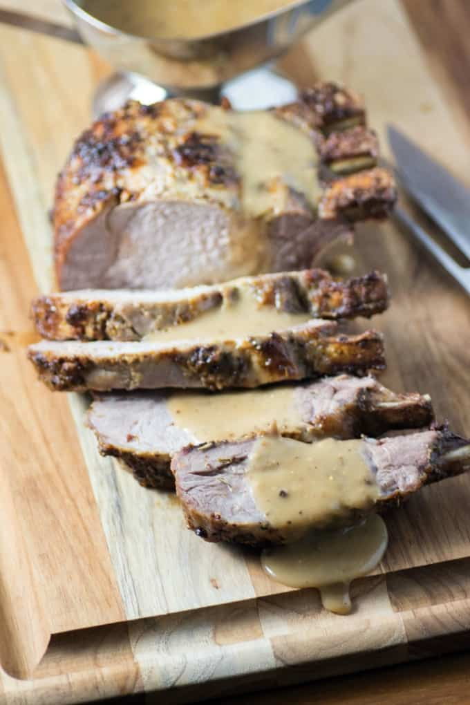 Rosemary Mustard Loin of Pork