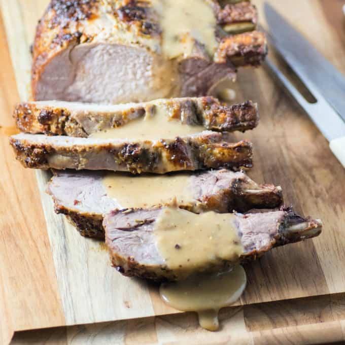 Rosemary Mustard Loin of Pork
