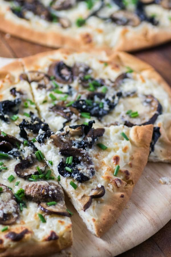 Three Mushroom Pecorino Truffled Flatbread
